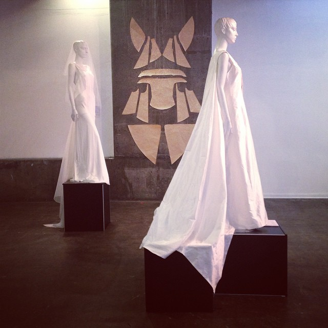 Concept to Creation exhibition as part of VAMFF Cultural Program 2015. #vamff #vamff2015 #novacancygallery #silk #white #design #gown #bride