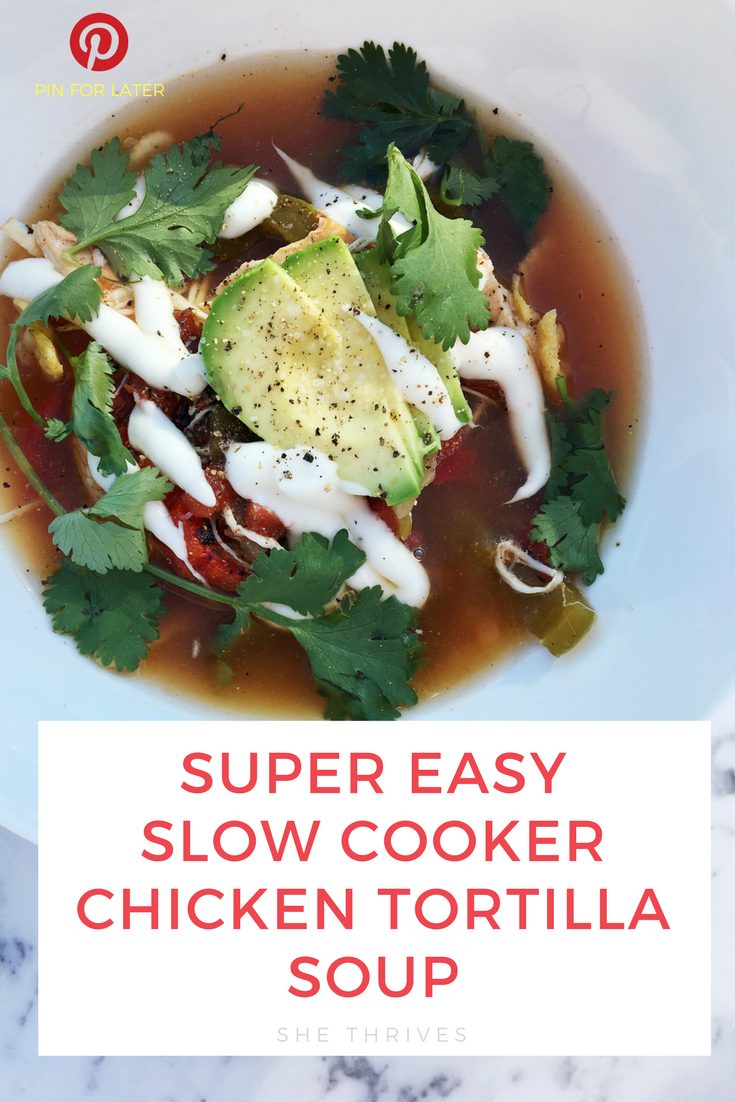 super easy paleo healthy slow cooker chicken tortilla soup