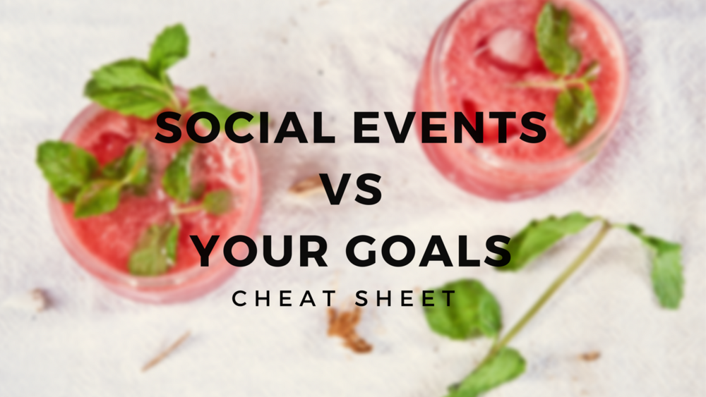 Social Life vs Your Goals Cheat Sheet