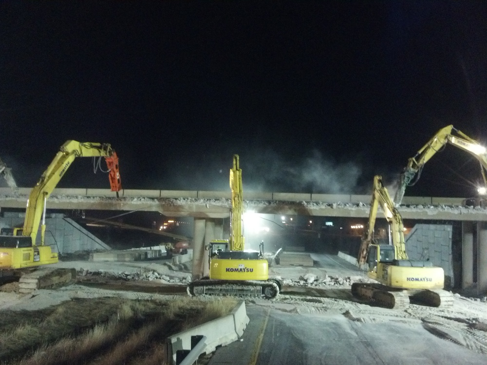 Rte. 160 Bridge Demo over I-44, Springfield, MO