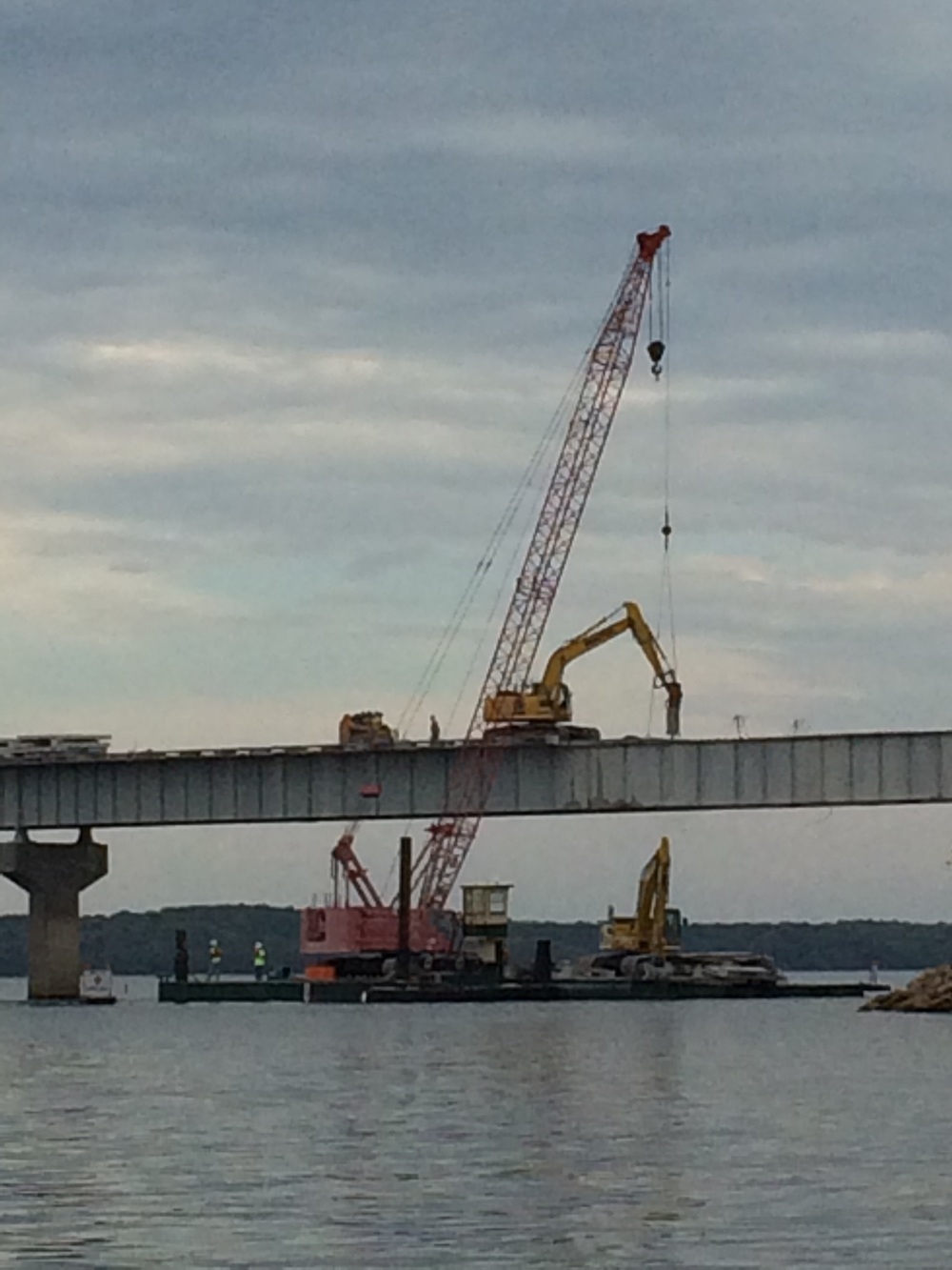 Stockton Bridge redeck removal