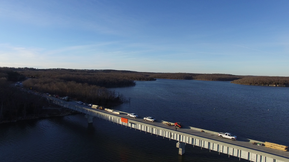 Rte. 215, Stockton, MO first 800' of 4200' bridge redeck