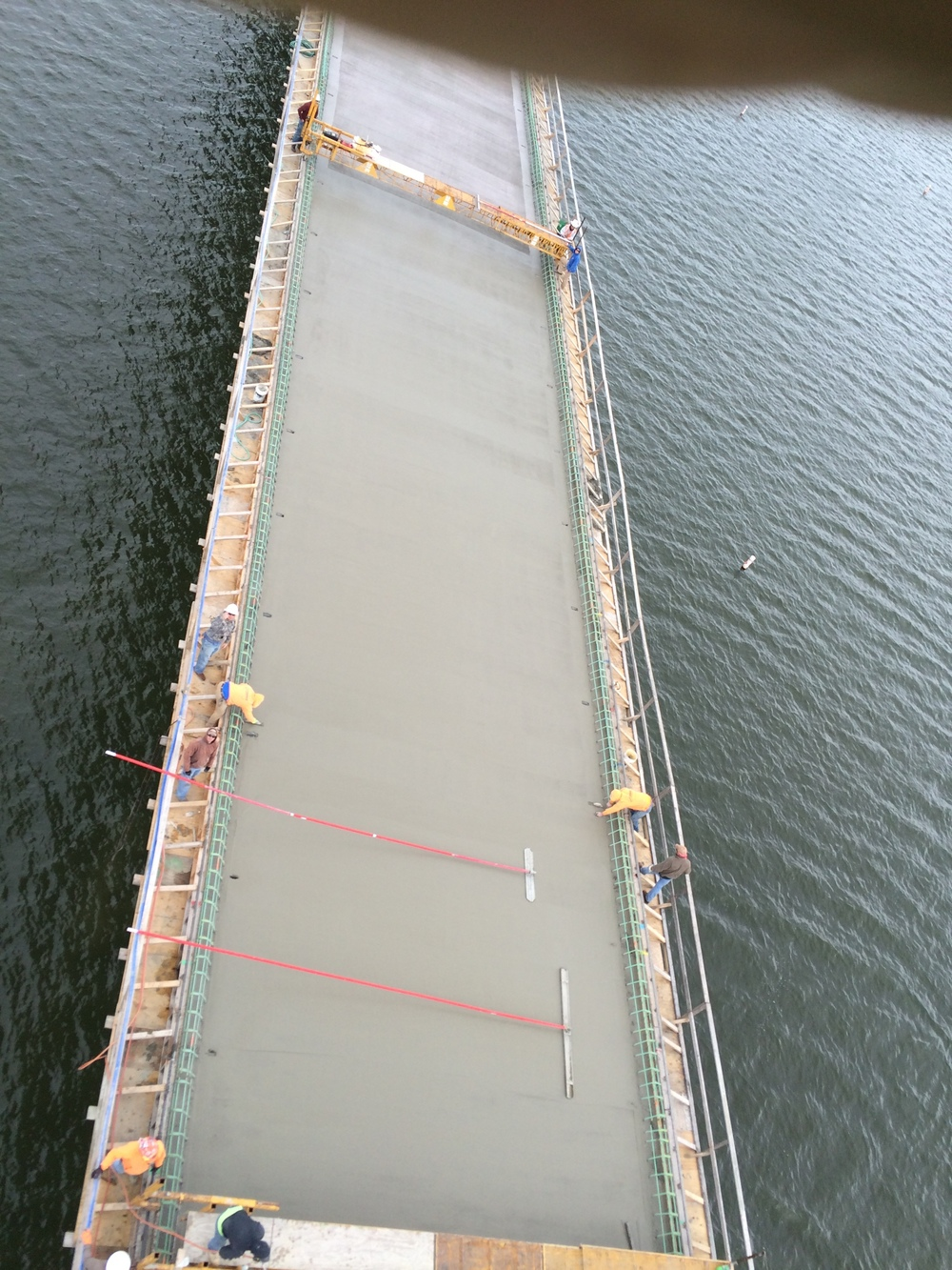 Rte. 215 Bridge over Stockton Lake finishing bridge deck