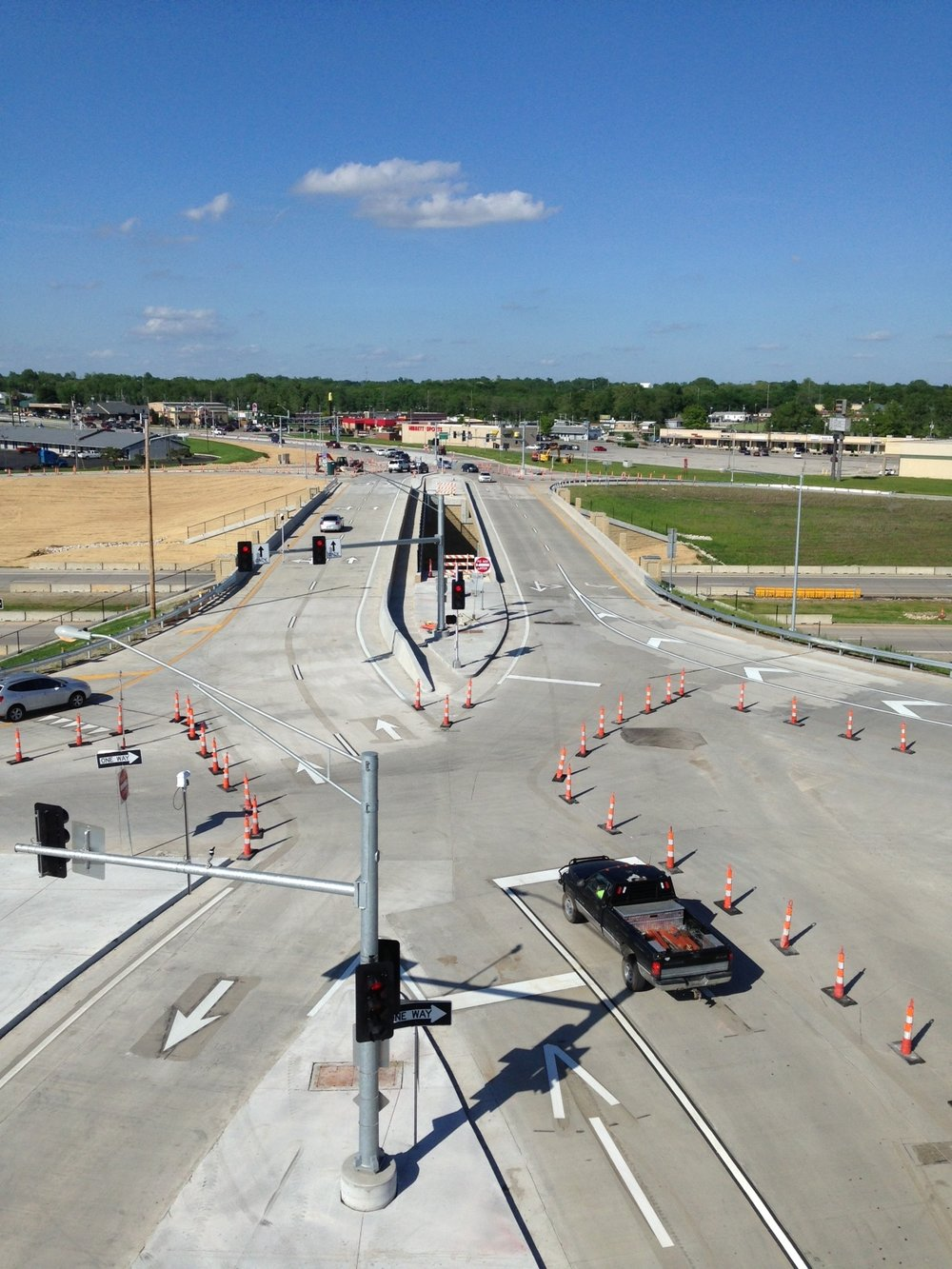 Harrisonville, MO Rte 291 Diverging Diamond Interchange