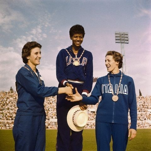 Image result for wilma rudolph gold medal