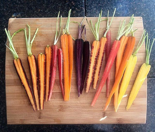 You ain't livin' unless you're aioli'n. We call in yayoli in our house! @stonewallkitchen roasted garlic aioli is a staple in our fridge 👍🏼 You just can't go wrong with these roasted rainbow carrots 🥕+🌈=😍 Preheat oven to 400 degrees. Dress carrots in extra virgin olive oil and a generous amount of flaky sea salt. Serve with #yayoli and freshly chopped parsley.  FYI better make a double batch because I just ate this entire plate to myself 🤘🏼 #wellnessbylittle #rainbowcarrots #tastetherainbow