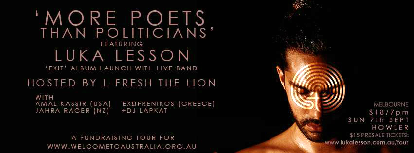 More Poets Than Politicians Melb 7 Sept 2014