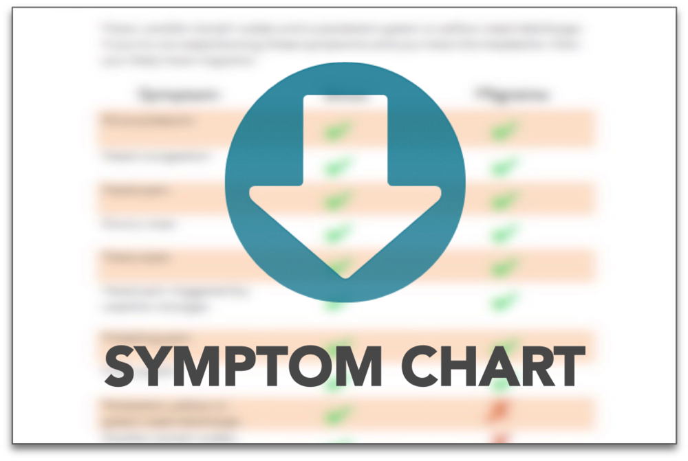 Brain Tumor or migraine? check the key differences in this symptom chart