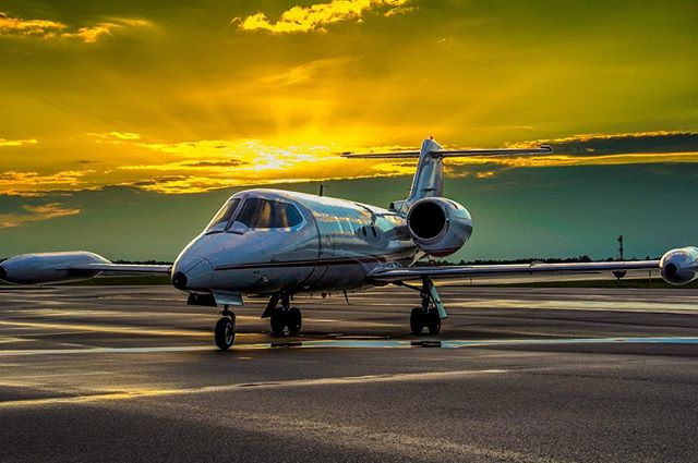 #learjet35 #kcae #sunset #aviation #jetset #privatejet