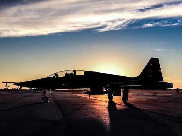 #aviation #t38 #usairforce #kcae #notforcharter #sunset #avgeek #instaplane