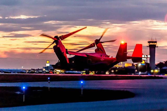 #osprey #marines #aviation #avgeek #sunset