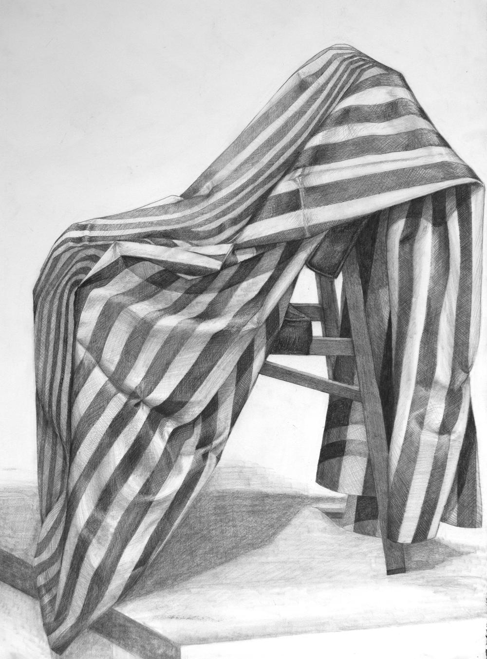 """Chair study"" - Graphite pencils"