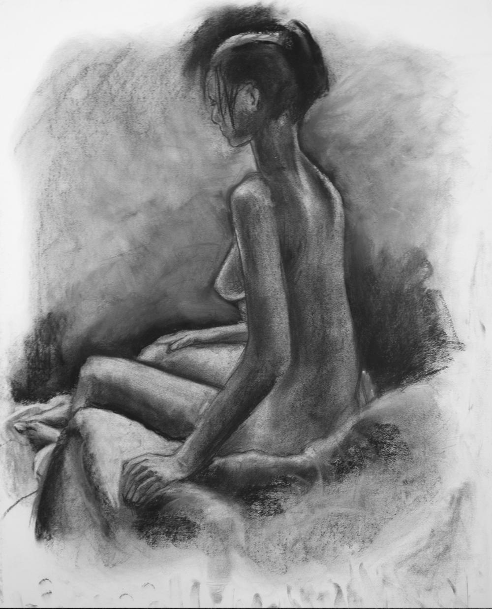 """""""Figure Study 1"""" - Charcoal"""