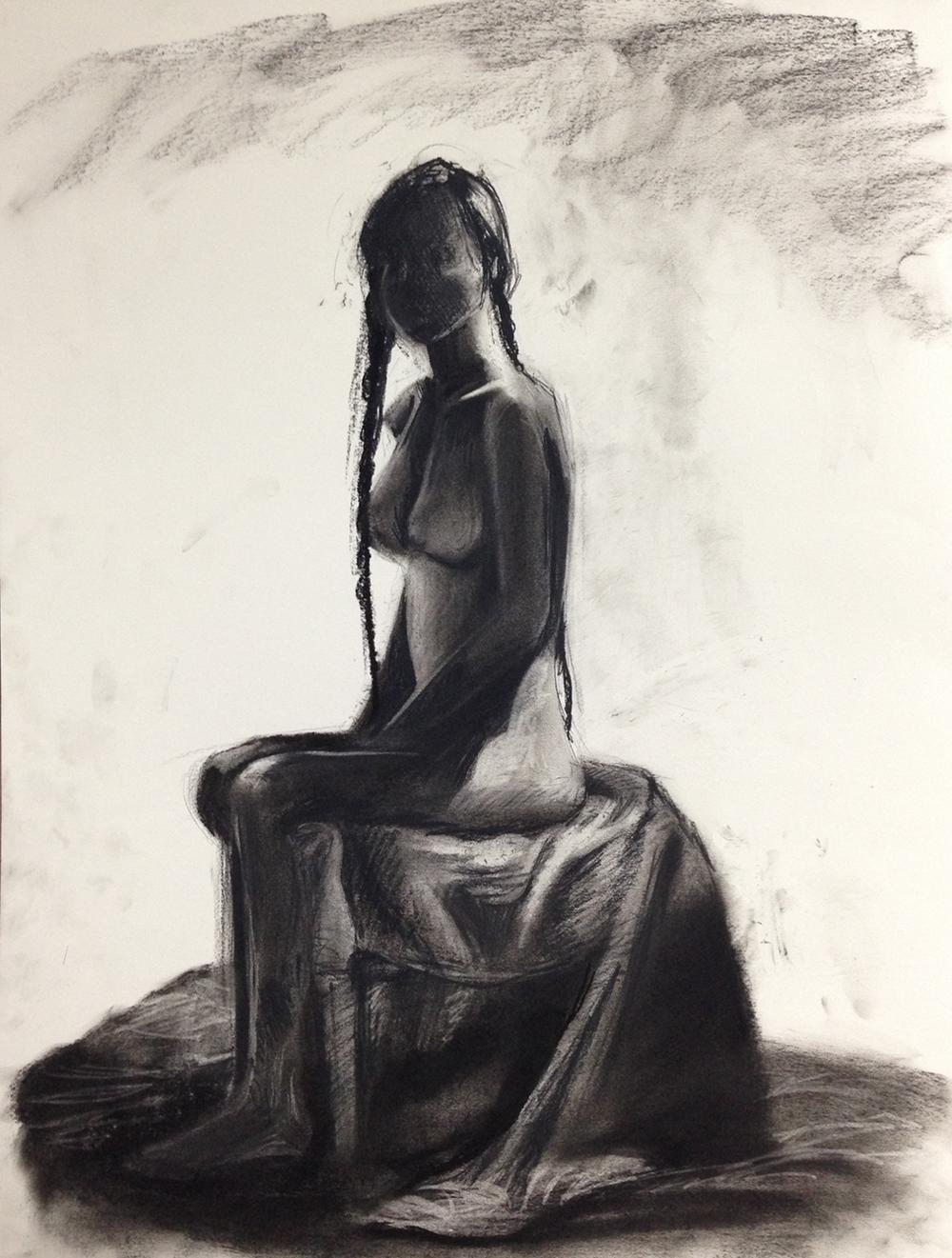 """""""Figure Study 2"""" - Charcoal"""