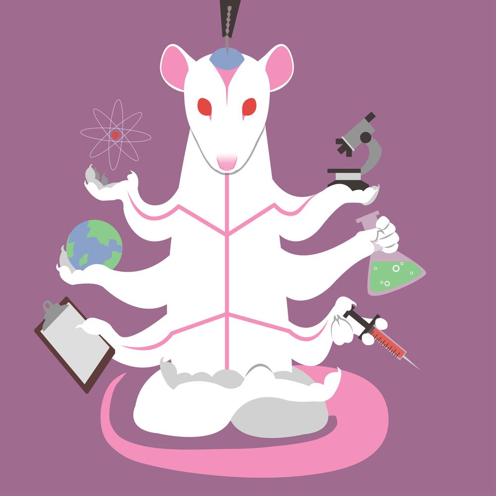 """God of Science"" - Vector illustration"