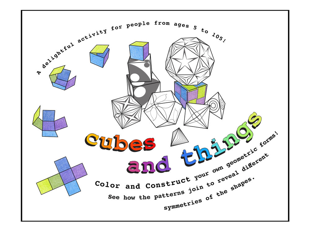 Cubes and Things - 3D Coloring Book