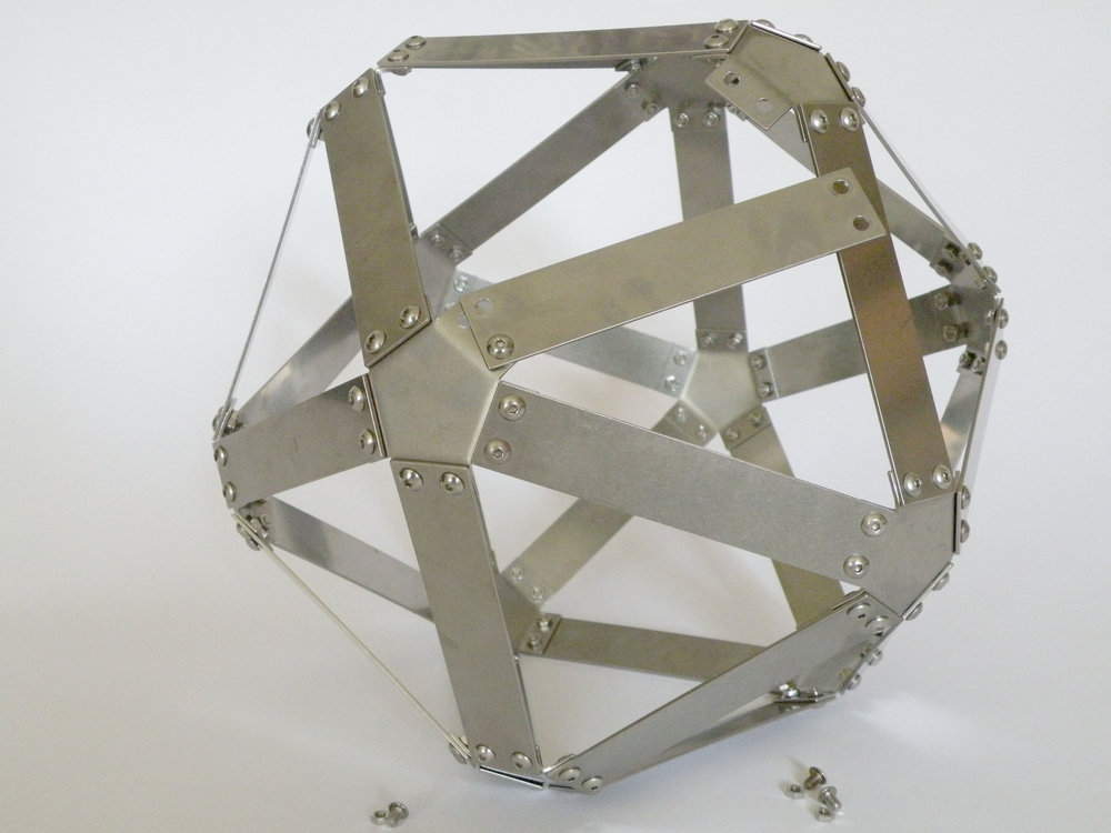 The construction of a metal icosahedron.