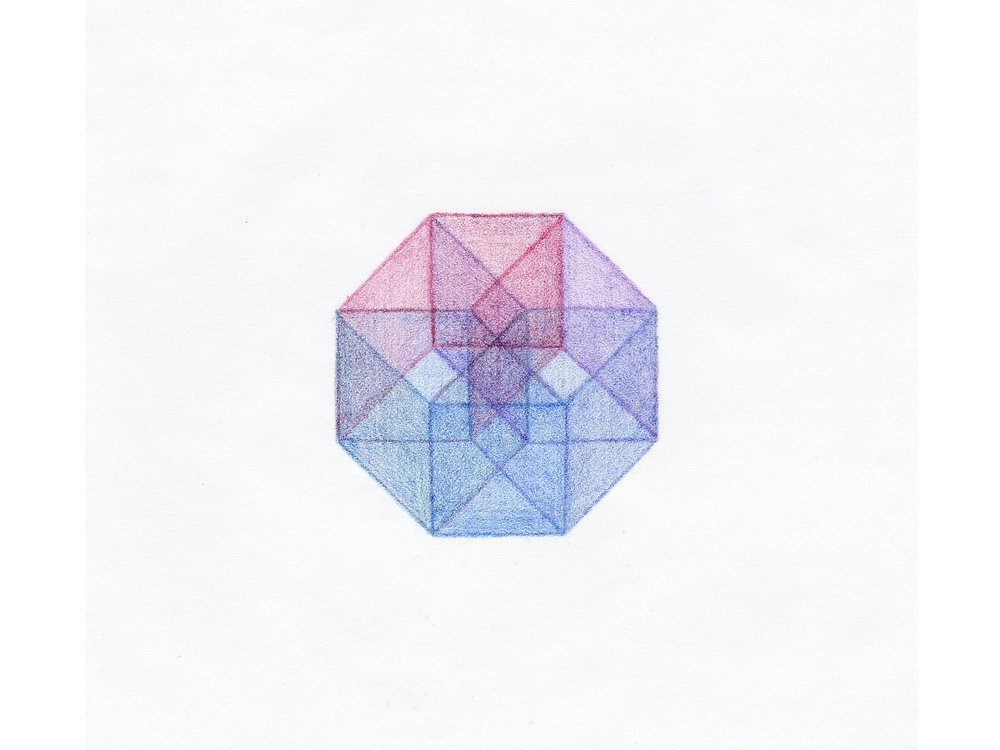 Colored Pencil 4D Cube
