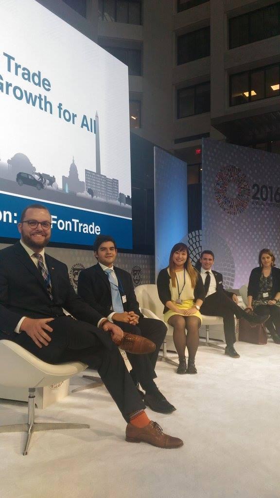 Delegates Nick Schiavo, Daniel Sorek, Cerina Lee, Andrej Litvenjenko and Isabelle Duchaine.jpg
