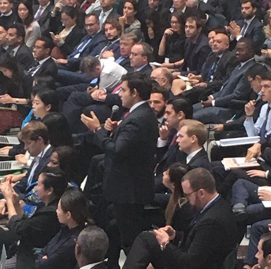 YDC delegate Daniel Sorek asking a question during the CNN debate on the global economy.jpg
