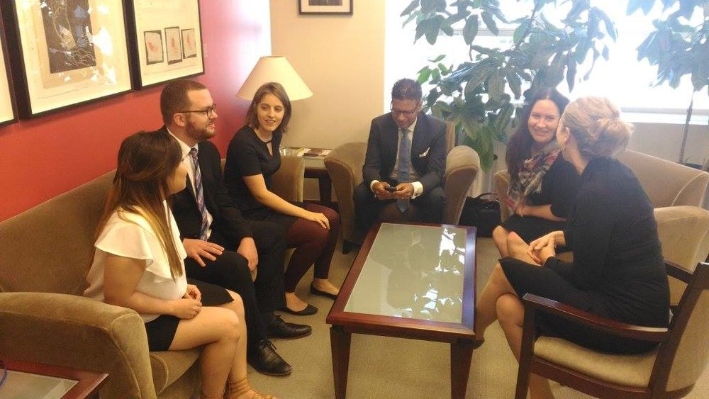 YDC delegates in discussion with staff at the World Bank.jpg