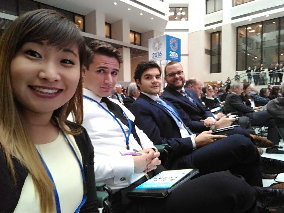 YDC delegates preparing for a panel on _Making Trade an Engine of Growth for All_.jpg