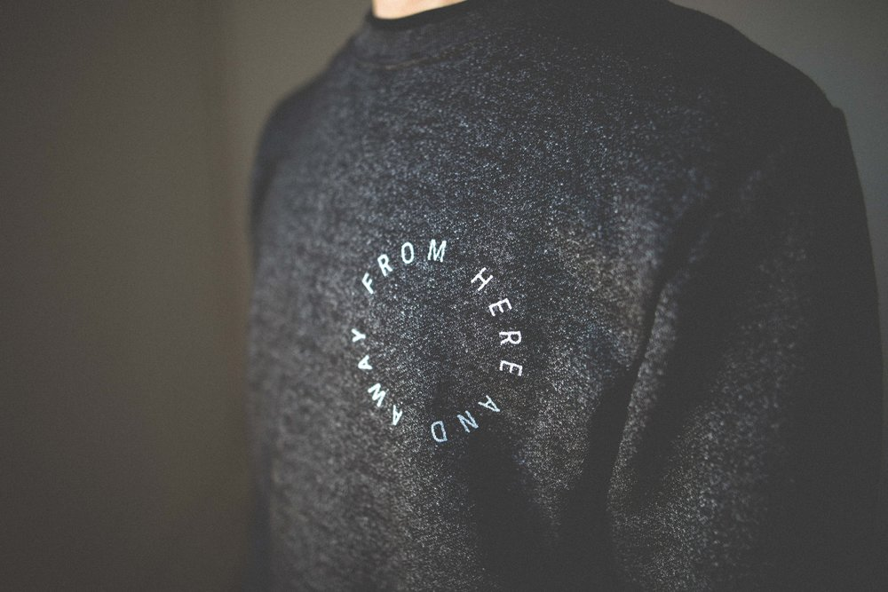 from here and away crewneck