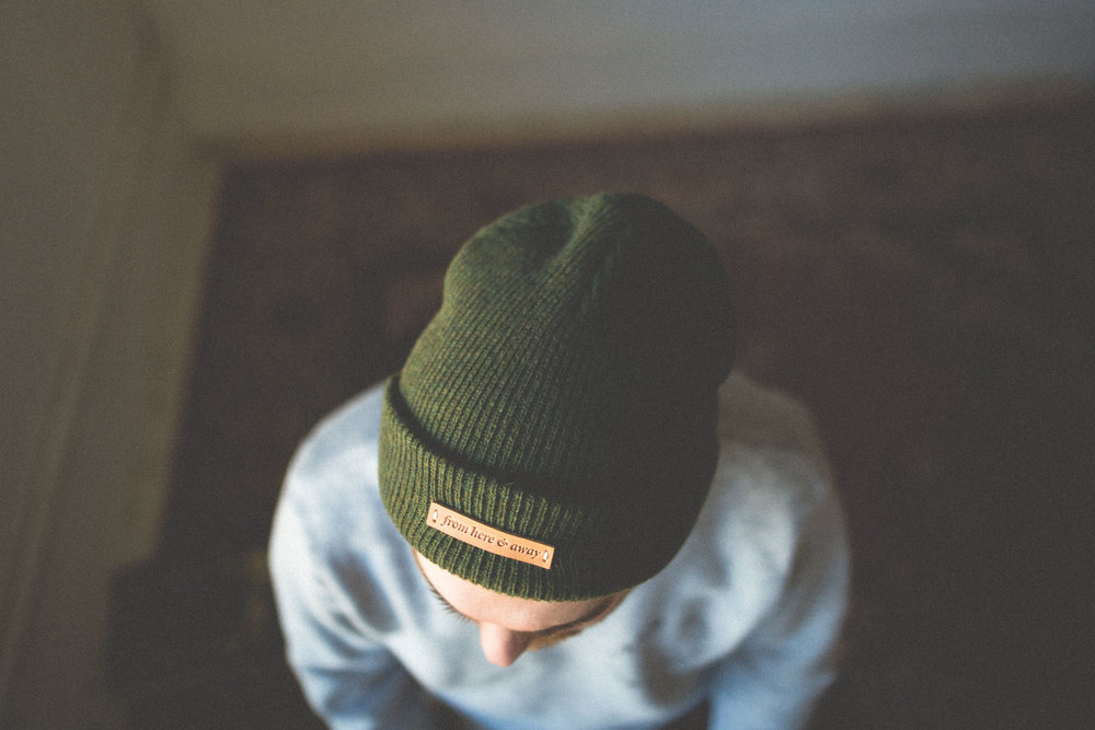 from here and away merino wool toques. Made in USA. Winnipeg Clothing brand. Photography collective.