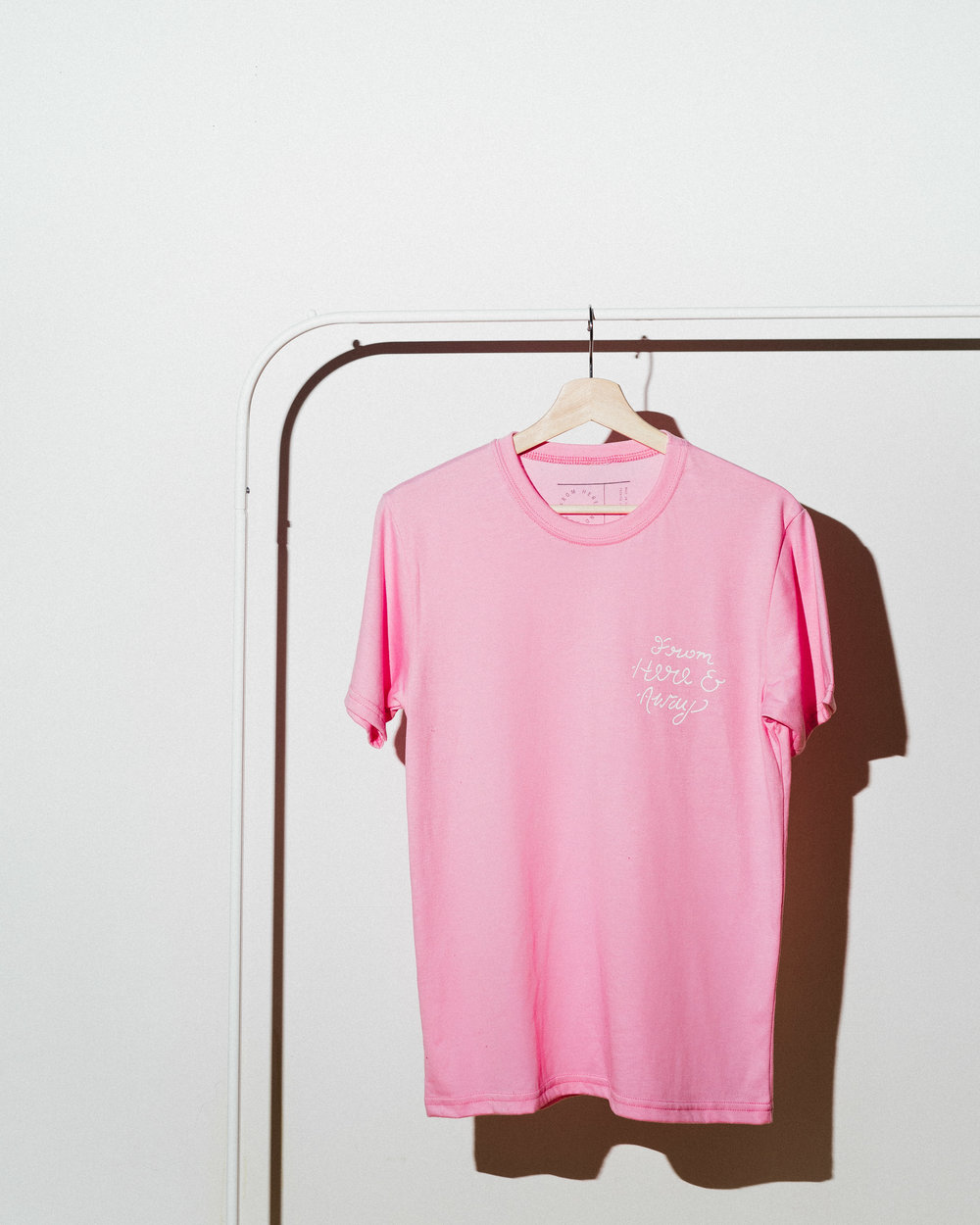 Squiggly Signature Pink T