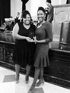 Chanceé and I received the Small Businesswomen of the Year Award.