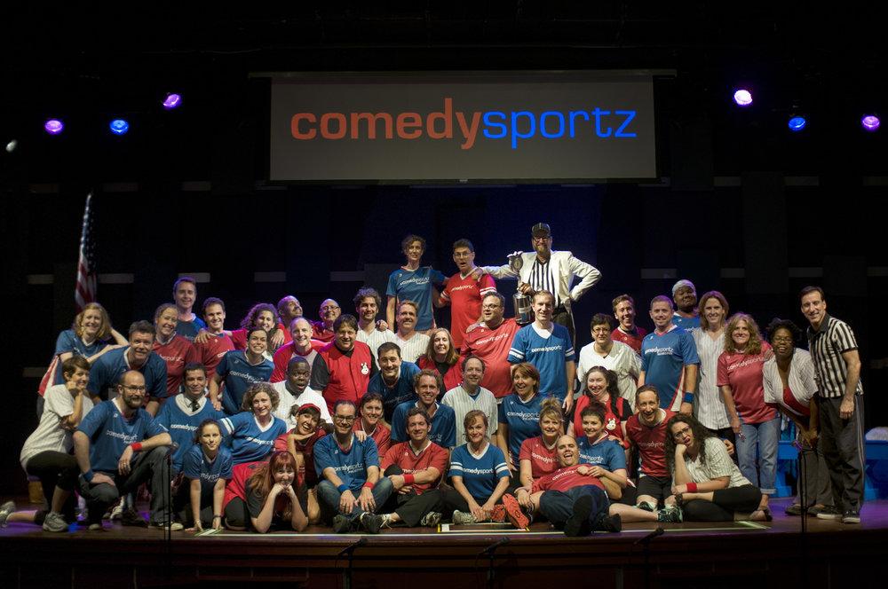The comedysportz 20th anniversary cast