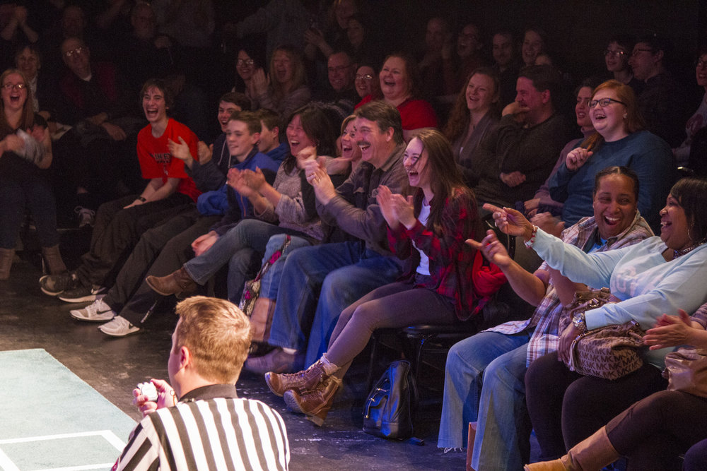 Laughing fans at ComedySportz