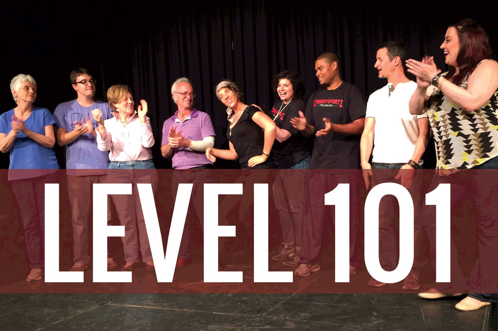 Students taking an Intro to Improv Class