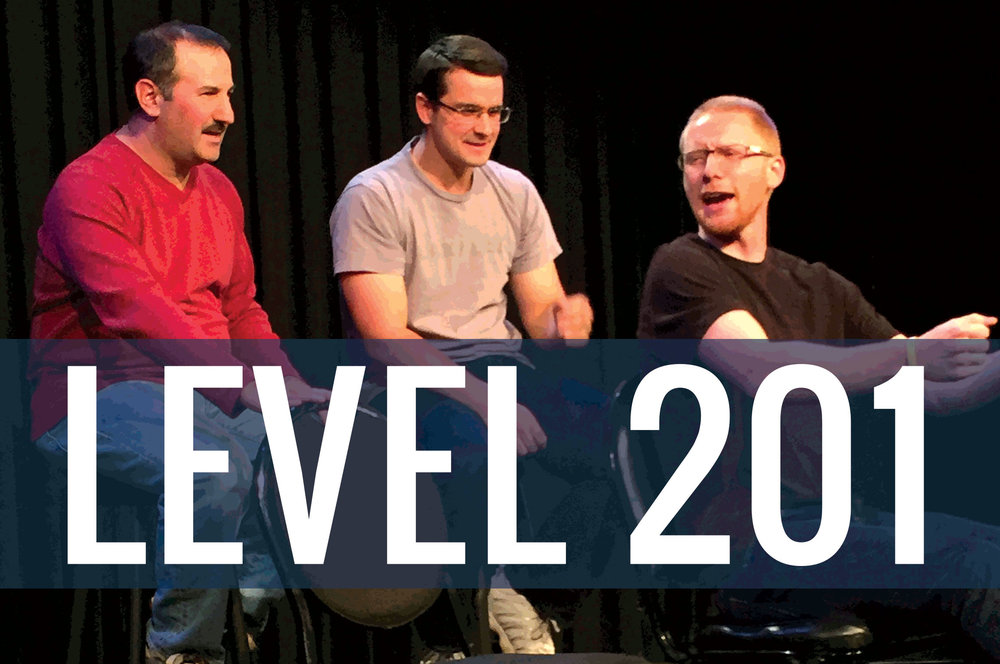 Students taking a level 201 Improv Class