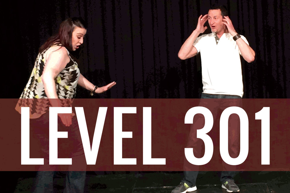 Students taking a Level 3 Improv Class