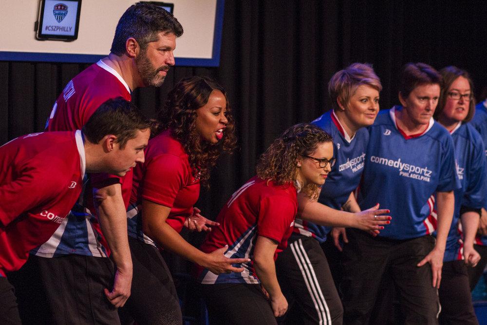 ComedySportz Players (Photo by Clayton Raithel)
