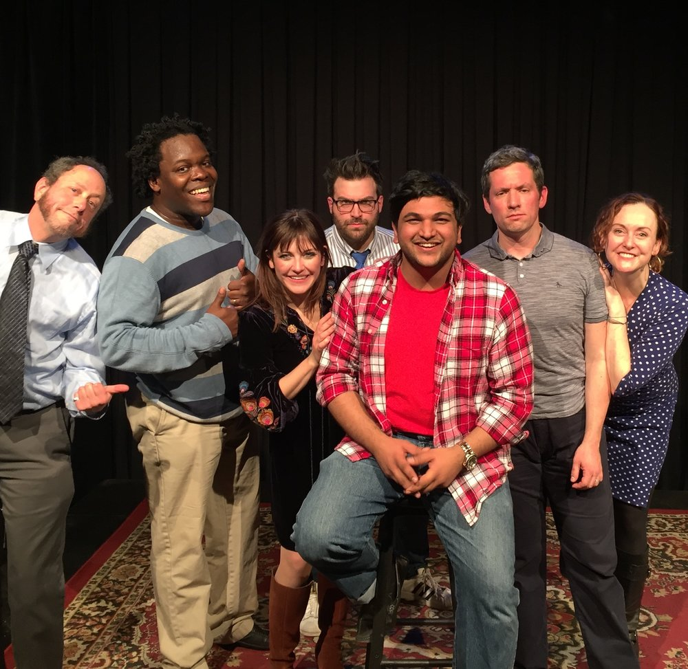 The Blue Show Cast (w/ Audience Member in Red)