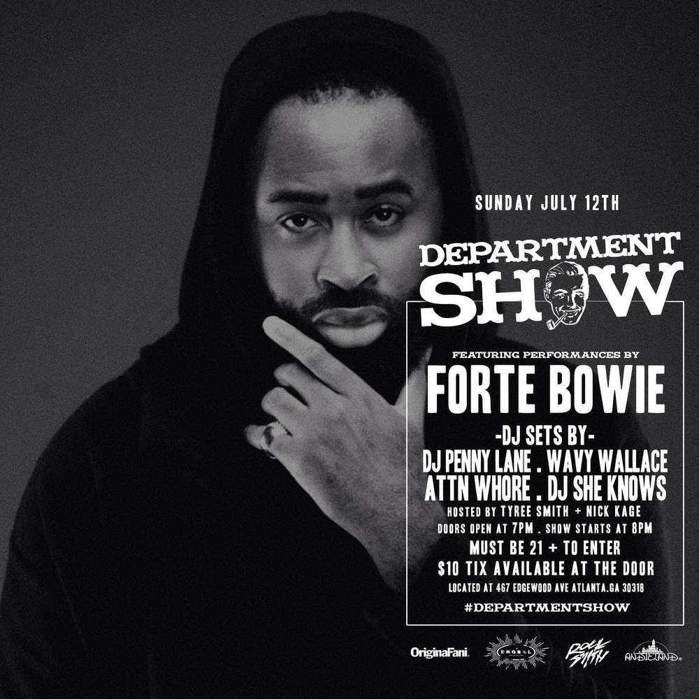 ForteBowie will be live at Department Store tonight for the Department Show.