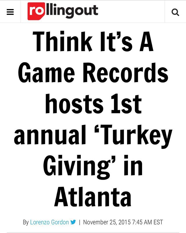Thanks to everybody for making our 1st annual turkey giving a success check out the article on rollingout.com #thinkitsagame