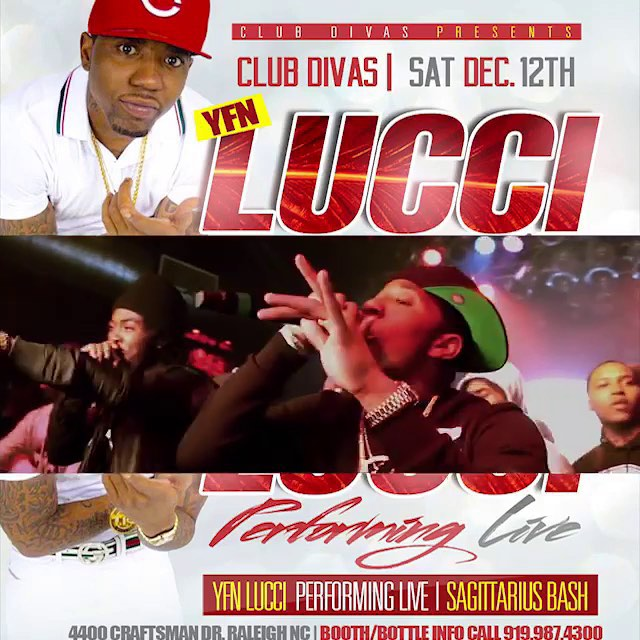 @yfnlucci Tonight Club Divas! #clubdivas #yfnlucci #thinkitsagame