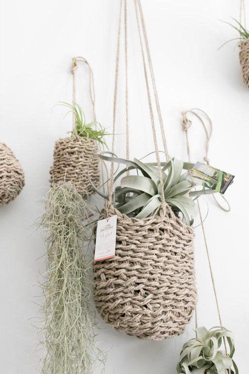 hemp hanging plant holders - Hanging Plant Holders