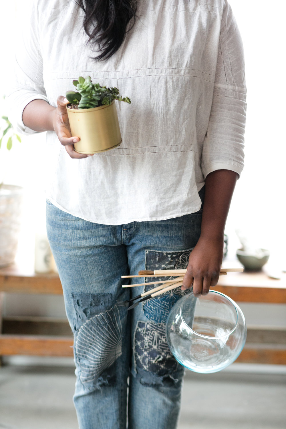 Join us for a    workshop    or at our    DIY Terrarium Bar    to learn from our team of plant experts.