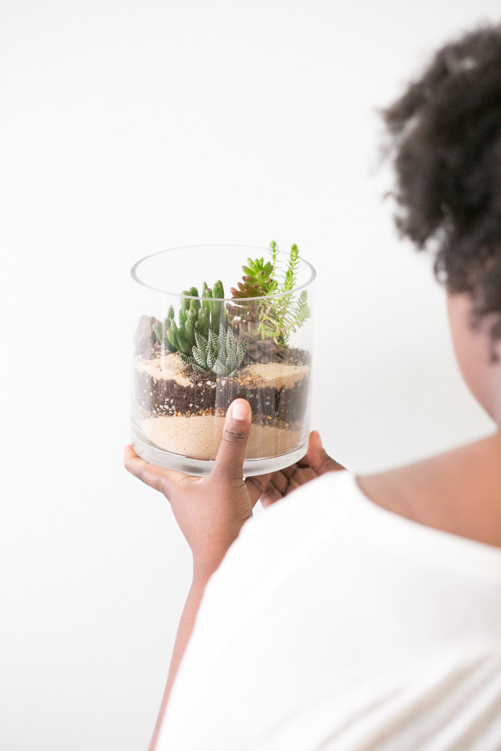 You can make a terrarium at our DIY terrarium bar - a fun activity for a date night or getting to know your new roommate.