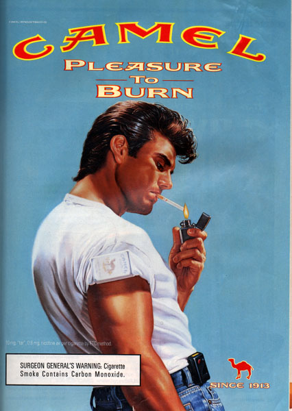 "2000 Camel cigarette ad campaign - updating the ""greaser"""