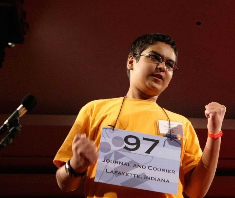 2008 winner Sameer Mishra ran the spelling bee's social media last year, live-tweeting every word in the competition.  He's now an investment banking analyst at Morgan Stanley and is attending Columbia University.