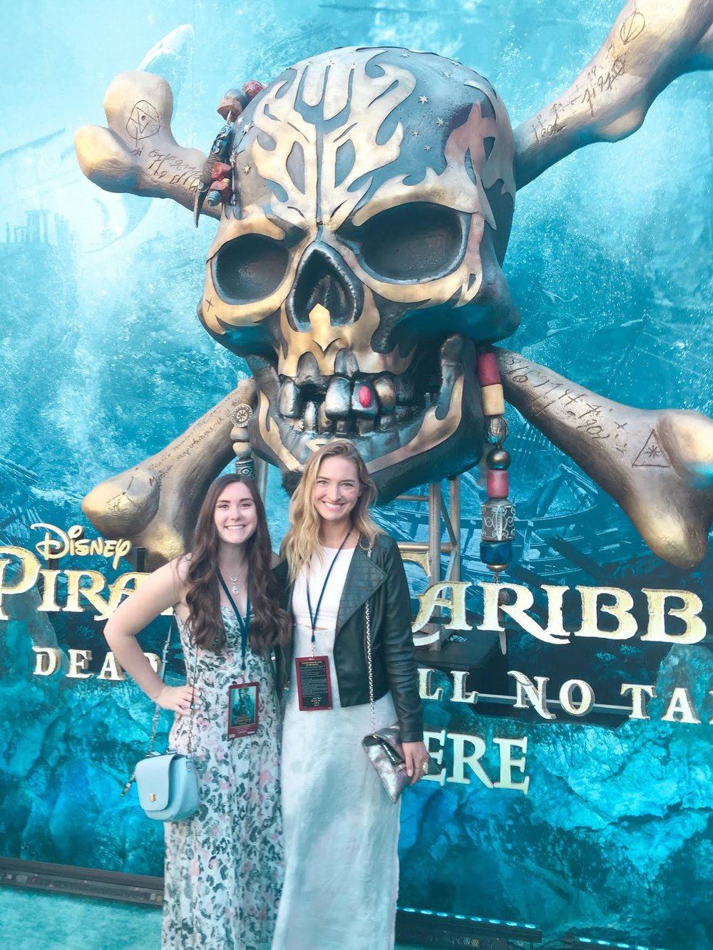 Kenze and I at the Pirates of the Caribbean Dead Men Tell No Tales Premiere.