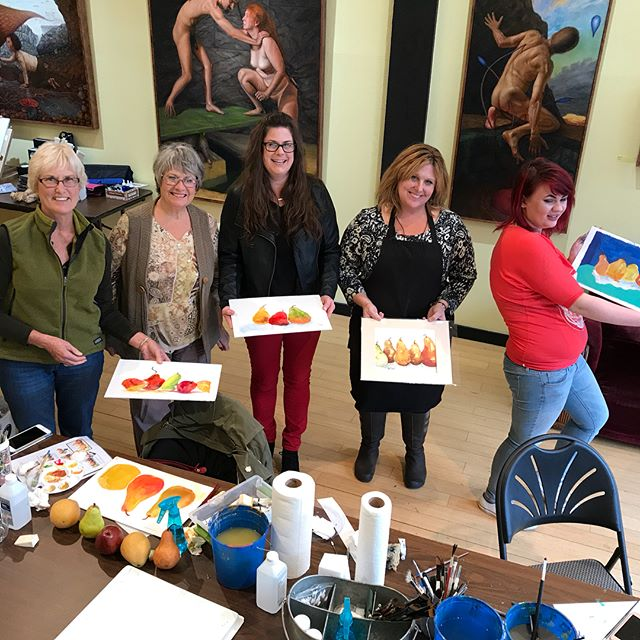 We had a fun workshop yesterday with Tamra Sheline demonstrating yupo painting. The next one will be December 9. @the_happy_artist_