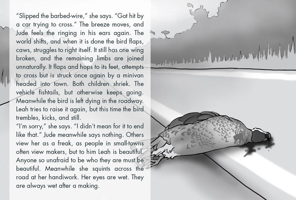 Monthly Fiction Maker illustration illustraded story Seth Marlin Alyssa Cooper page 2