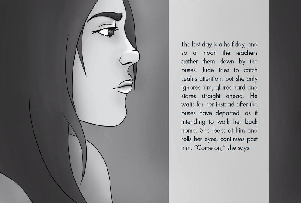 Monthly Fiction Maker illustration illustraded story Seth Marlin Alyssa Cooper page 20