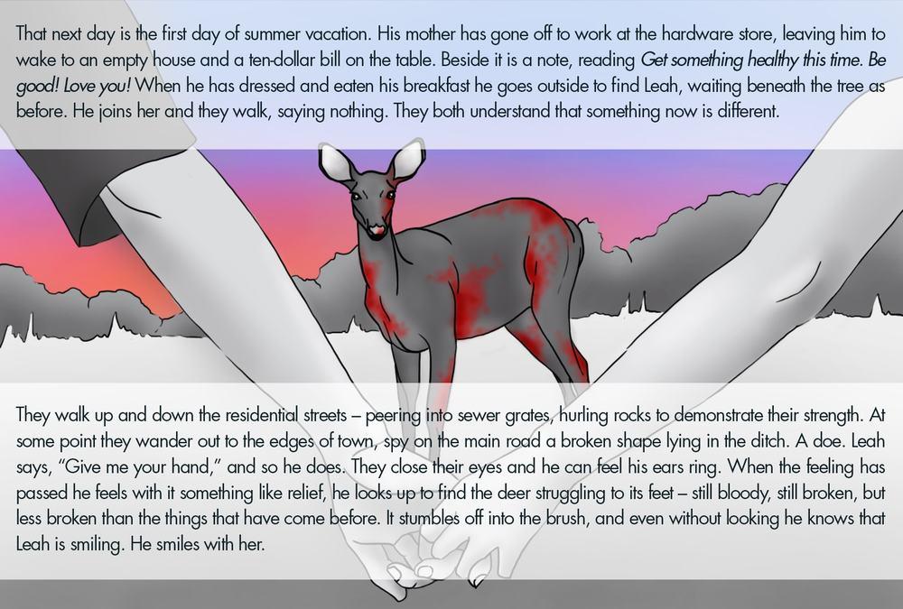 Monthly Fiction Maker illustration illustraded story Seth Marlin Alyssa Cooper page 30